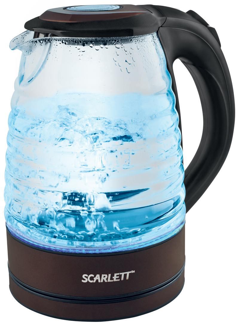 все цены на Чайник Scarlett SC-EK27G97 2200 Вт чёрный 1.7 л стекло онлайн