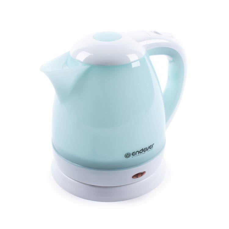 Чайник электрический Endever Skyline KR-347, белый-голубой
