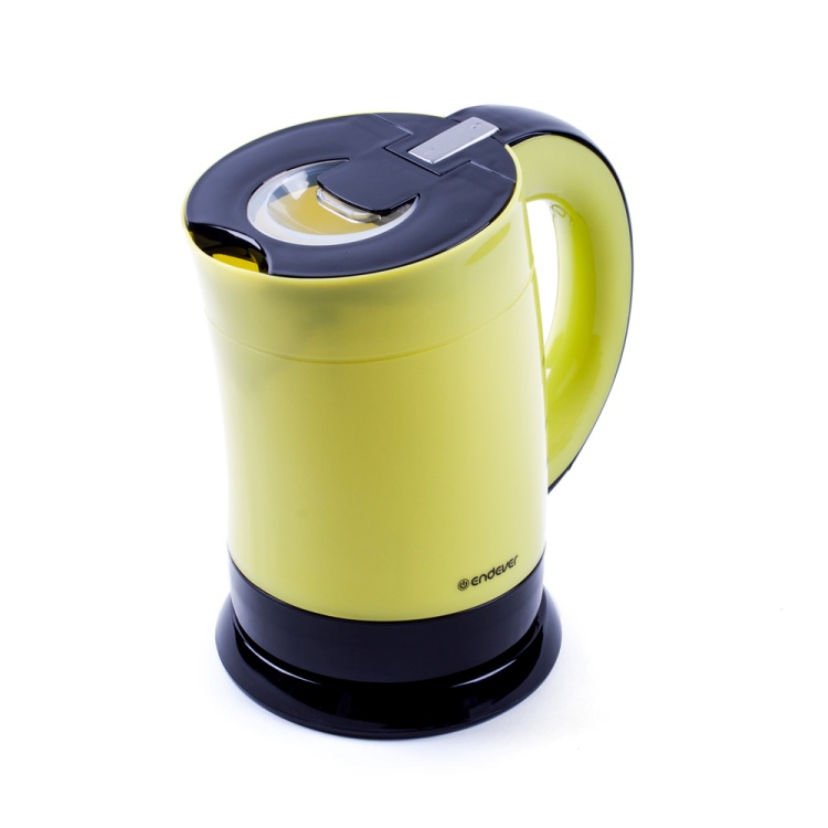 Чайник электрический Endever Skyline KR-356, черный/желтый, мощность 1900 Вт, емкость 1 л, пластиковый корпус,LED-подсветка, ориг дизайн .