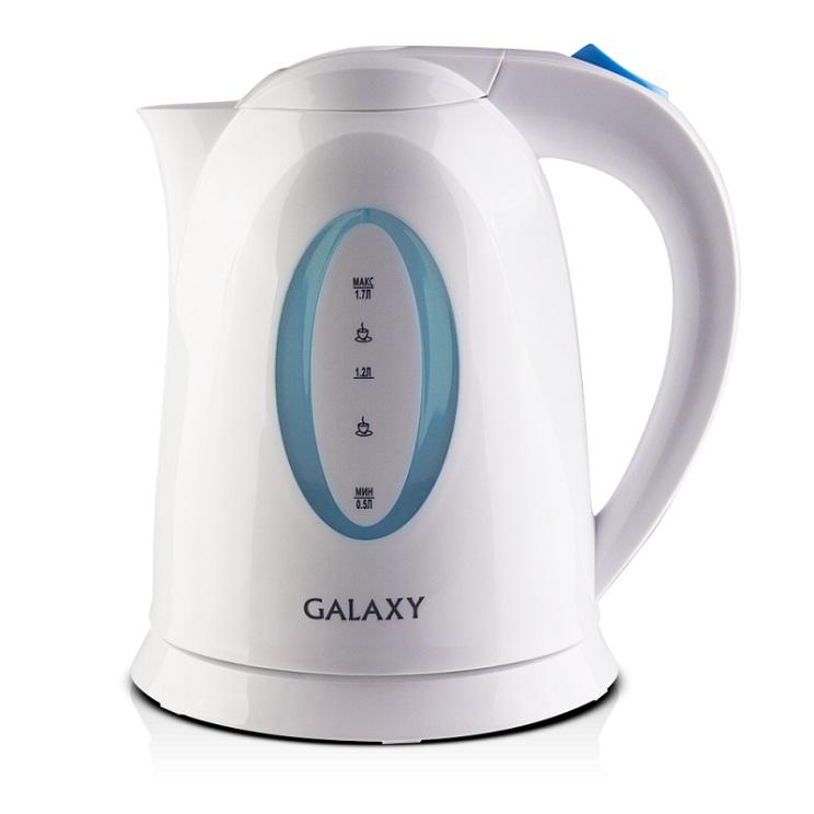Чайник GALAXY GL0218 2200 Вт белый 1.7 л пластик