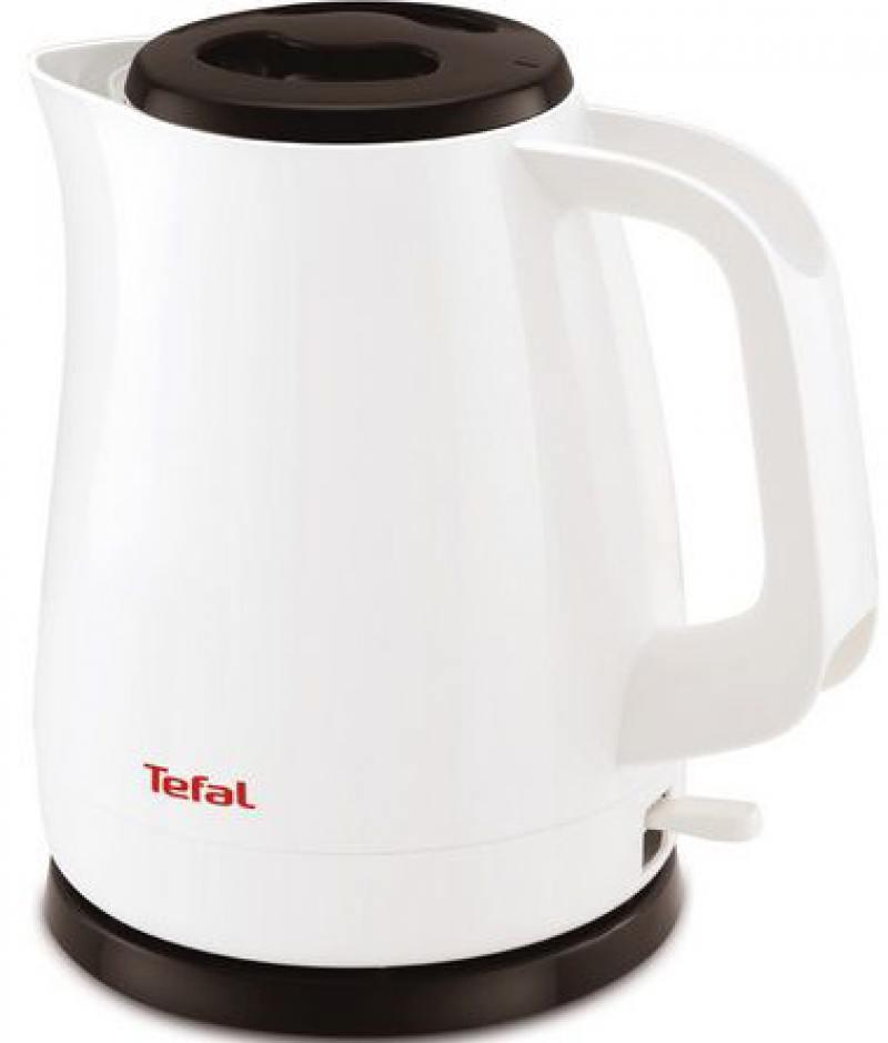 Чайник Tefal KO150130 2200 Вт 1.5 л пластик белый чёрный миксер ручной tefal tefal ht300188 250 вт белый желтый