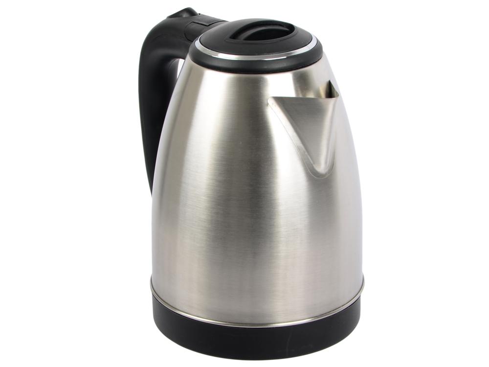 Чайник Maxwell MW-1078(ST) 1800 Вт серебристый чёрный 1.8 л нержавеющая сталь