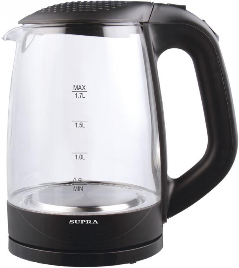 Чайник Supra KES-2008 2200 Вт чёрный 1.7 л стекло