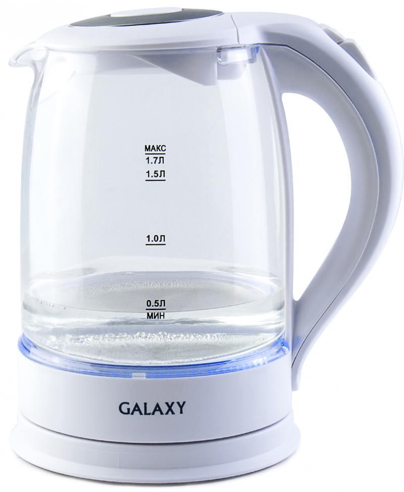Чайник GALAXY GL0553 2200 Вт белый 1.7 л пластик/стекло