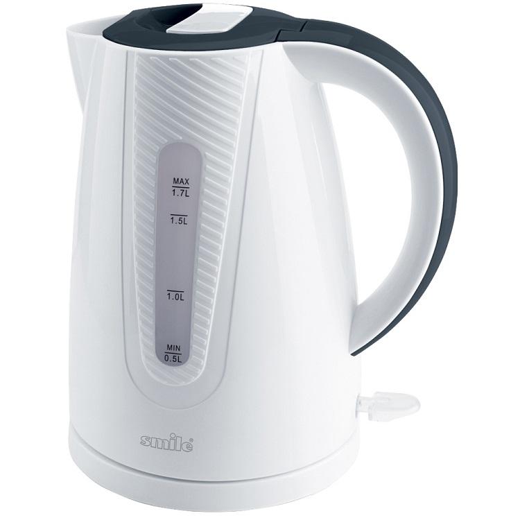 все цены на Чайник Smile WK 5308 2000 Вт 1.7 л пластик белый онлайн