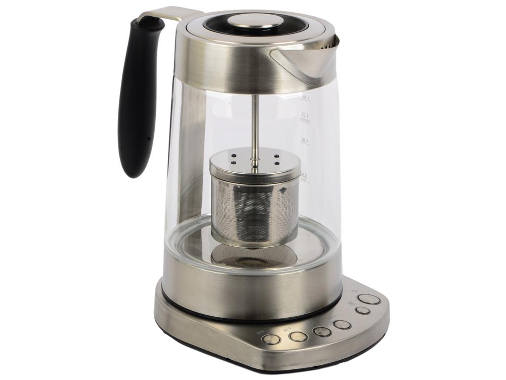 Чайник Profi Cook PC-WKS 1020 G 3000 Вт 1.7 л металл/стекло прозрачный чайник profi cook pc wks 1083 2200 вт 1 5 л металл серебристый
