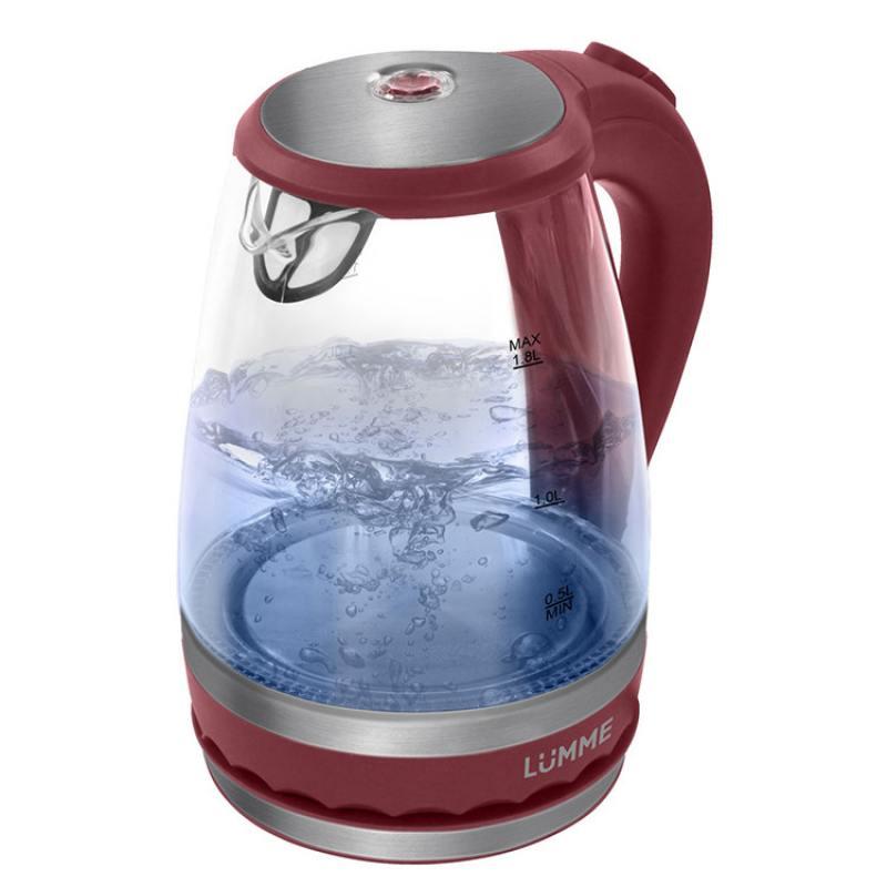 Чайник Lumme LU-220 2200 Вт красный 1.8 л пластик/стекло алмаз