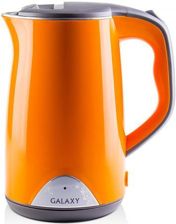 Чайник GALAXY GL0313 2000 Вт 1.7 л нержавеющая сталь оранжевый чайник электрический ладомир 102 2000 вт серебристый 1 2 л нержавеющая сталь