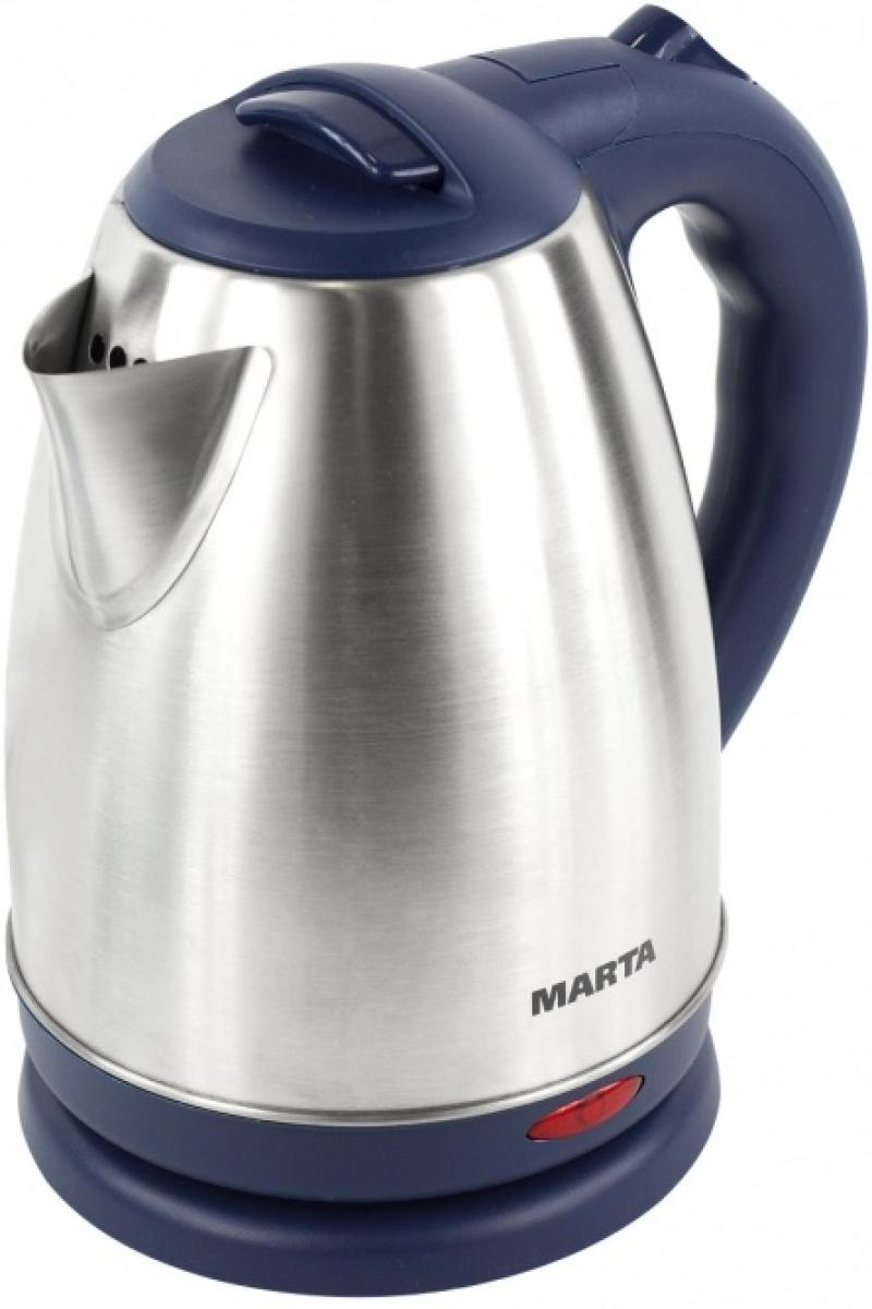 все цены на Чайник Marta MT-1083 1800 Вт синий сапфир 2 л нержавеющая сталь онлайн