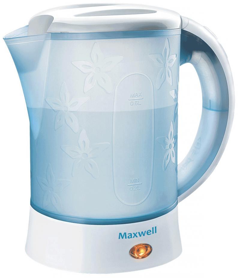 Чайник Maxwell MW-1072 B 600 Вт белый 0.6 л пластик