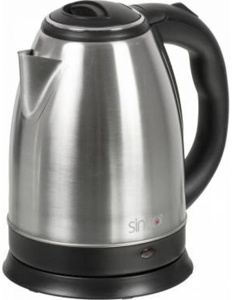 Чайник Sinbo SK 7362 2200 Вт серебристый чёрный 1.8 л нержавеющая сталь чайник sinbo sk 7358 2200 вт 1 8 л пластик слоновая кость