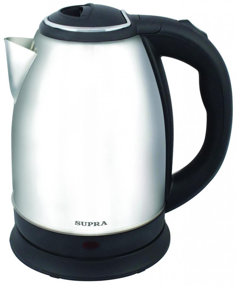Чайник Supra KES-1731 2200 Вт 1.7 л металл чёрный чайник supra kes 1724 2200 вт 1 7 л пластик белый синий