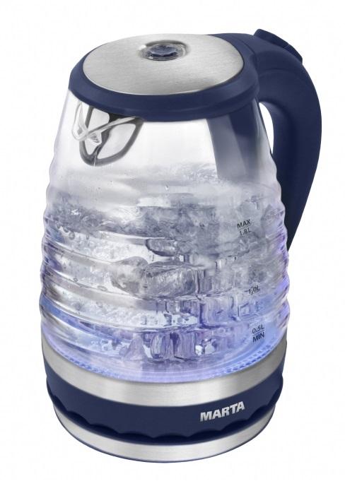 Чайник Marta MT-1085 синий сапфир утюг marta mt 1146 800вт синий