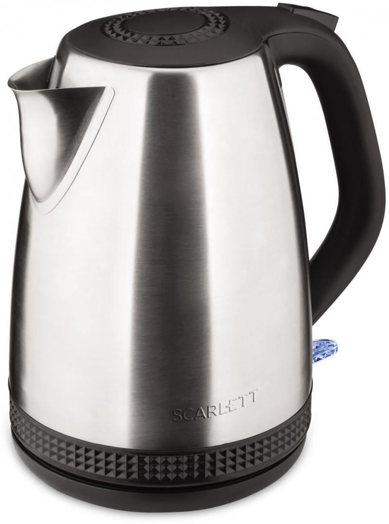 Чайник электрический Scarlett SC-EK21S46 1.7л. 2200Вт серебристый/черный (корпус: нержавеющая сталь) чайник электрический scarlett sc ek21s46 серебристый черный