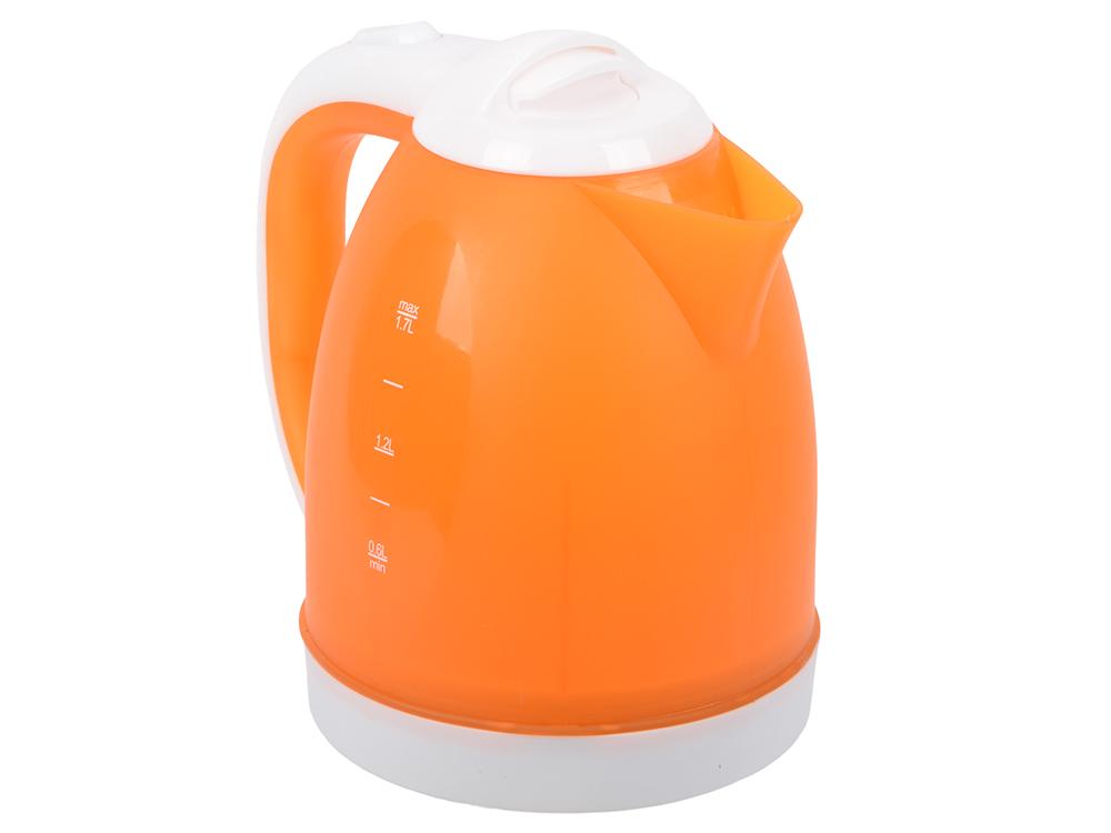 Чайник BBK EK1755P белый/оранжевый тостер bbk tr72m white