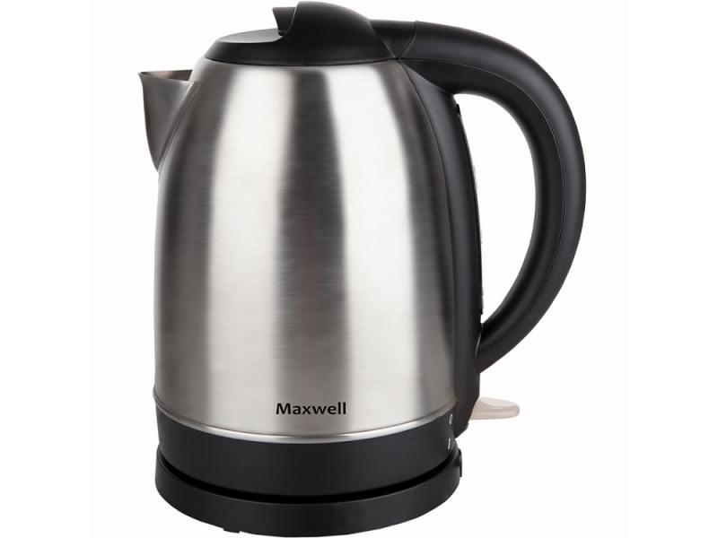 Чайник Maxwell MW-1049 2200 Вт 1.7 л металл серебристый чайник clatronic wks 3625 2200 вт фиолетовый 1 8 л металл