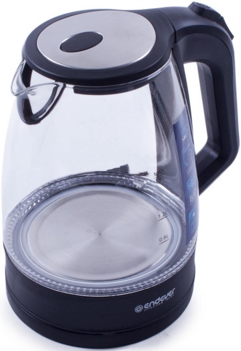 Чайник ENDEVER Skyline KR-326G 2200 Вт чёрный 1.8 л стекло