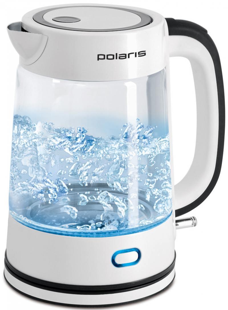 Чайник Polaris PWK 1709CGL 2200 Вт белый 1.7 л стекло
