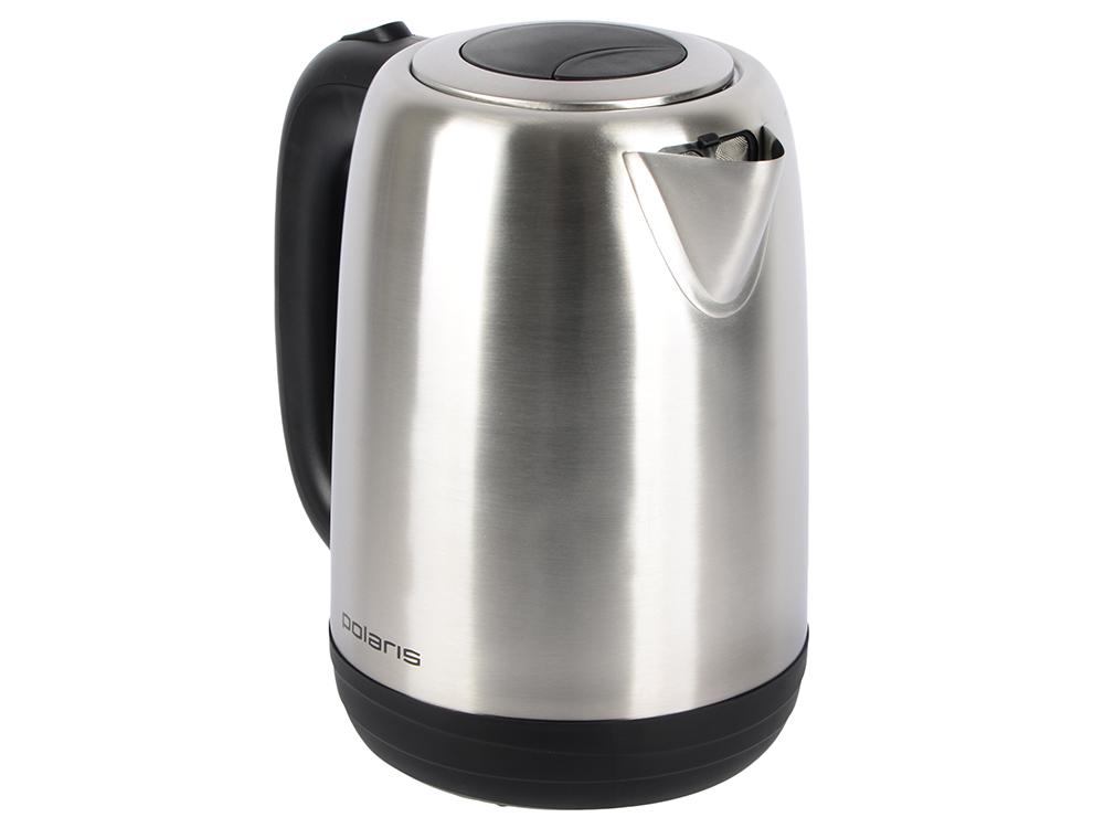 Чайник электрический Polaris PWK 1793CA 1.7л. 2200Вт серебристый матовый (корпус: нержавеющая сталь) чайник электрический polaris pwk 1726ca 2400вт серебристый и рисунок