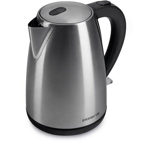 Чайник электрический Polaris PWK 1707CA 1.7л. 2200Вт серебристый матовый чайник электрический polaris pwk 1726ca 2400вт серебристый и рисунок
