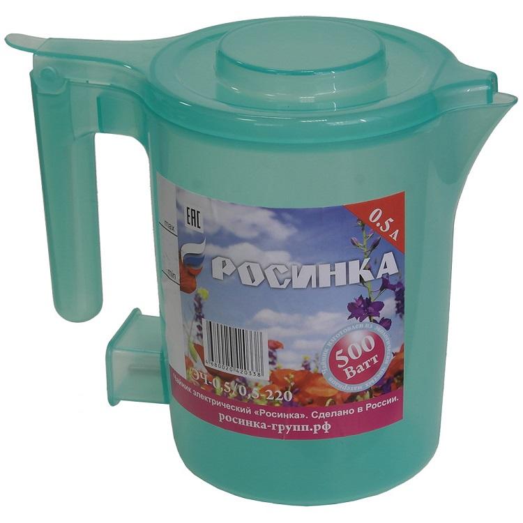 Чайник Росинка ЭЧ-0,5/0,5-220 бирюзовый