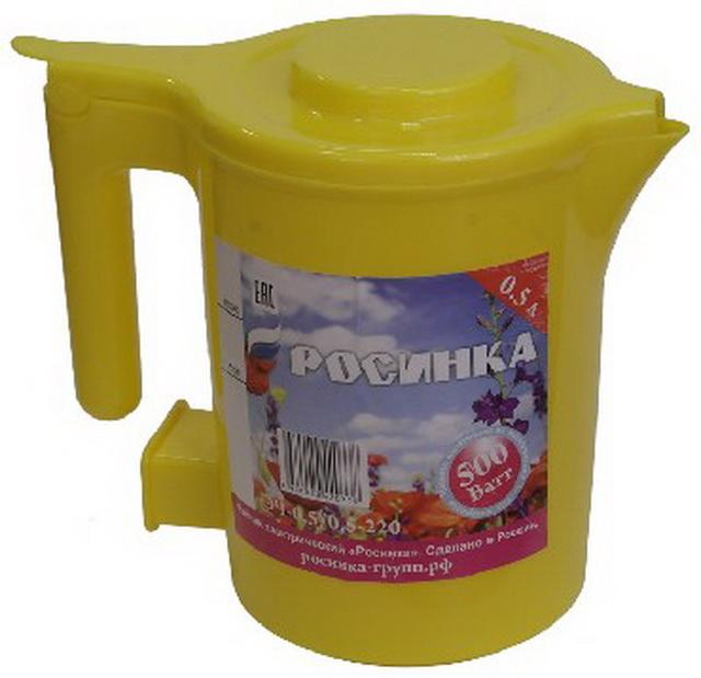Чайник Росинка ЭЧ-0,5/0,5-220 желтый