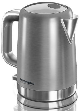 Чайник Redmond RK-M1263 2200 Вт серебристый 1.6 л нержавеющая сталь чайник электрический redmond rk m113 серебристый