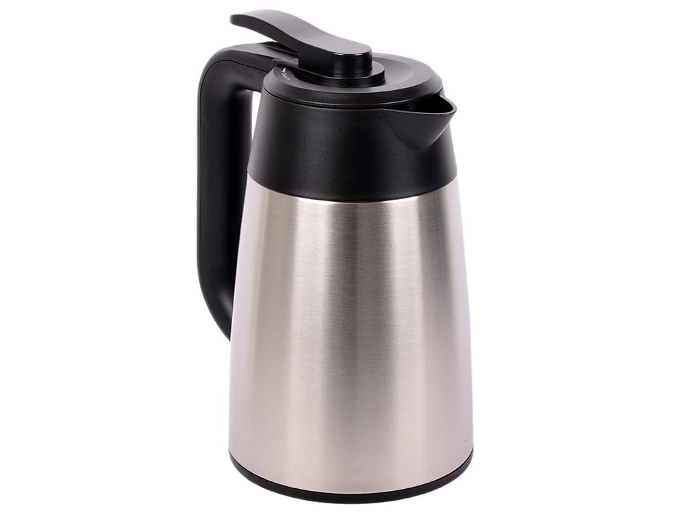Чайник электрический Kitfort КТ-620-2 1.7л. 2200 Вт серебристый/черный (корпус: нержавеющая сталь/пластик) чайник электрический ладомир 102 2000 вт серебристый 1 2 л нержавеющая сталь