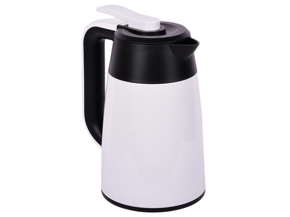 Картинка для Чайник электрический Kitfort КТ-620-1 1.7л. 2200 Вт белый/черный (корпус: нержавеющая сталь/пластик)