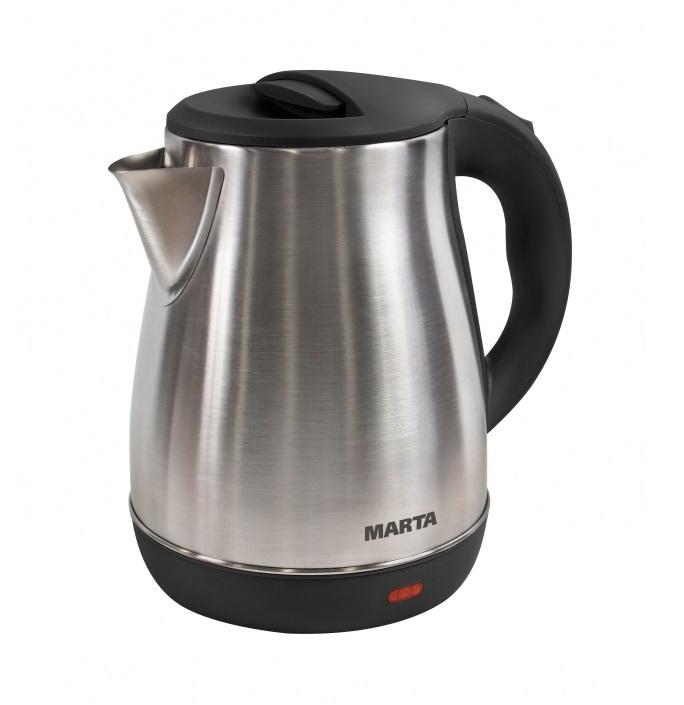 Чайник MARTA MT-1091 черный жемчуг мультиварка marta mt 4314 темный агат