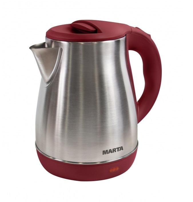 Чайник MARTA MT-1091 красный гранат чайник marta mt 1048