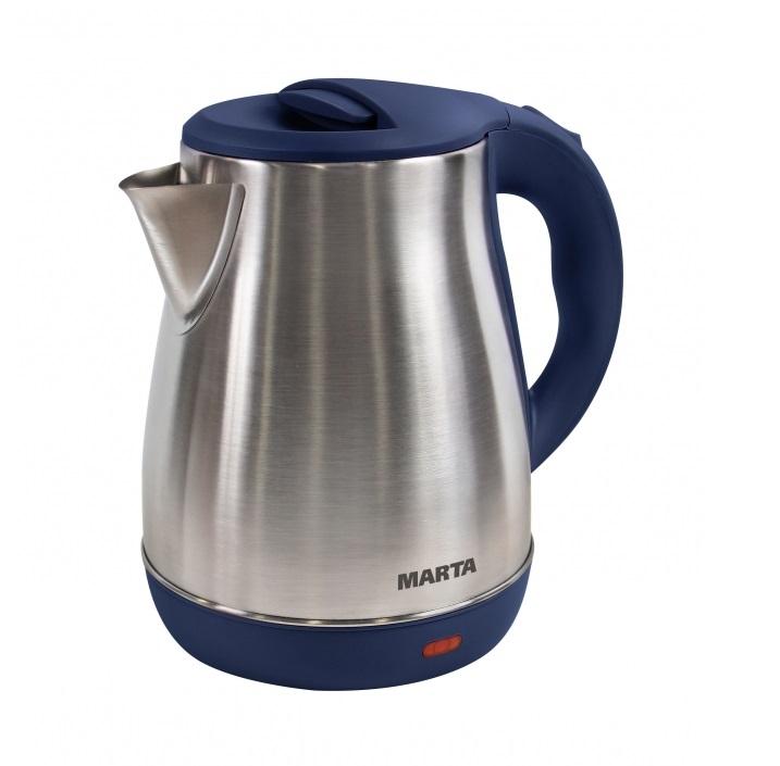 Чайник MARTA MT-1091 синий сапфир чайник marta mt 3043 шоколад