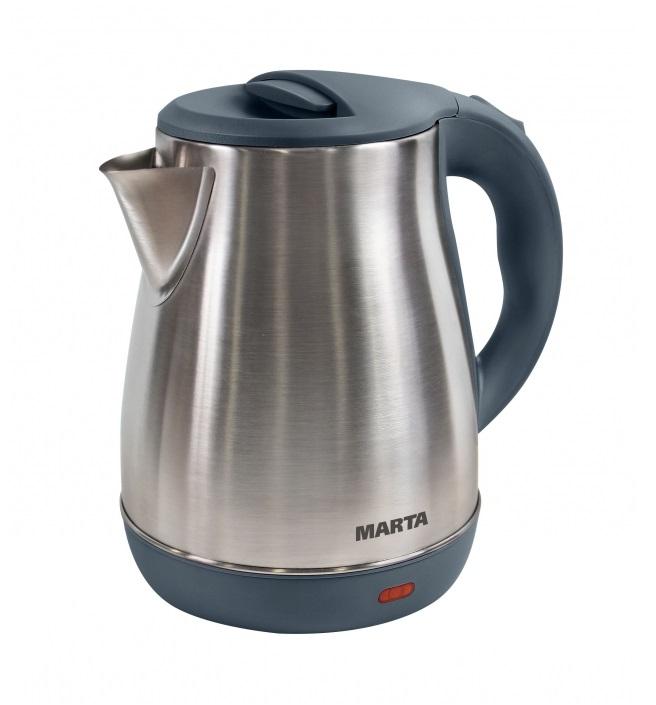 Чайник MARTA MT-1091 серый жемчуг чайник электрический marta mt 1091 черный жемчуг