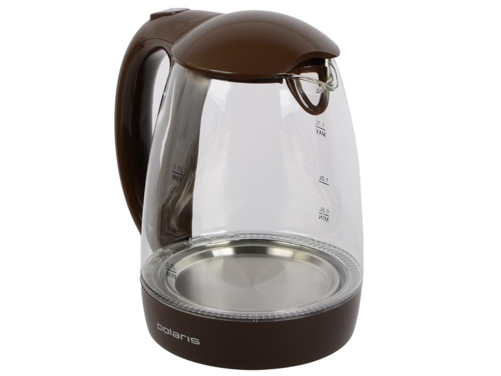 Чайник электрический Polaris PWK 1768CGL, Шоколад электрический самокат polaris pes 0808