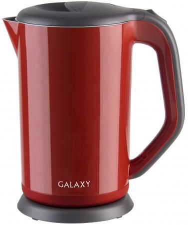 Чайник GALAXY GL0318 2000 Вт красный 1.7 л металл/пластик термос чайник emsa samba 1 л стекло пластик красный
