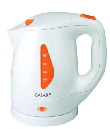Чайник GALAXY GL0220 900 Вт белый 1 л пластик