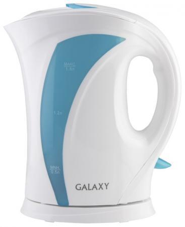 Чайник GALAXY GL0103 2200 Вт белый голубой 1.8 л пластик чайник starwind skp3541 2200 вт белый голубой 1 7 л пластик