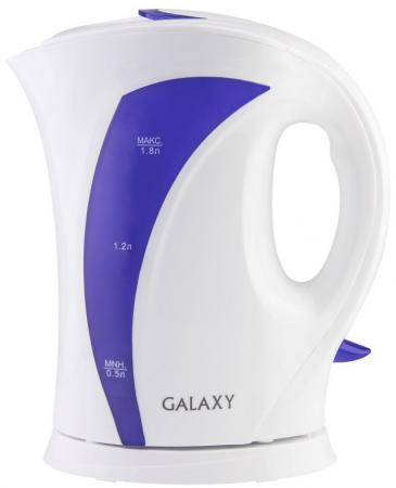 Чайник GALAXY GL0103 2200 Вт белый фиолетовый 1.8 л пластик чайник clatronic wks 3625 2200 вт фиолетовый 1 8 л металл