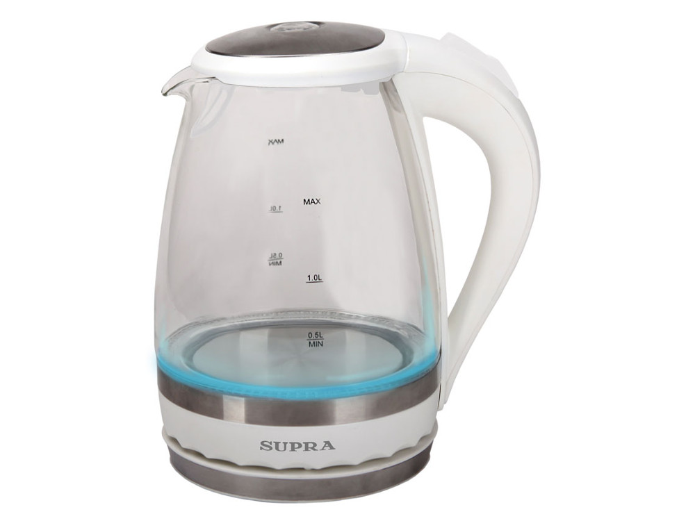 Чайник (стекло) SUPRA KES-2003N white