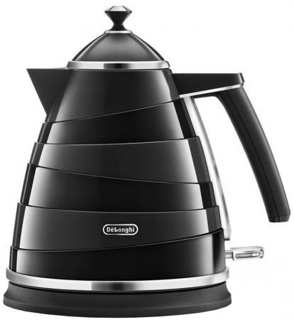 Чайник DeLonghi KBA 2001 BK Avvolta, 2000Вт, 1.7л, черный цена и фото