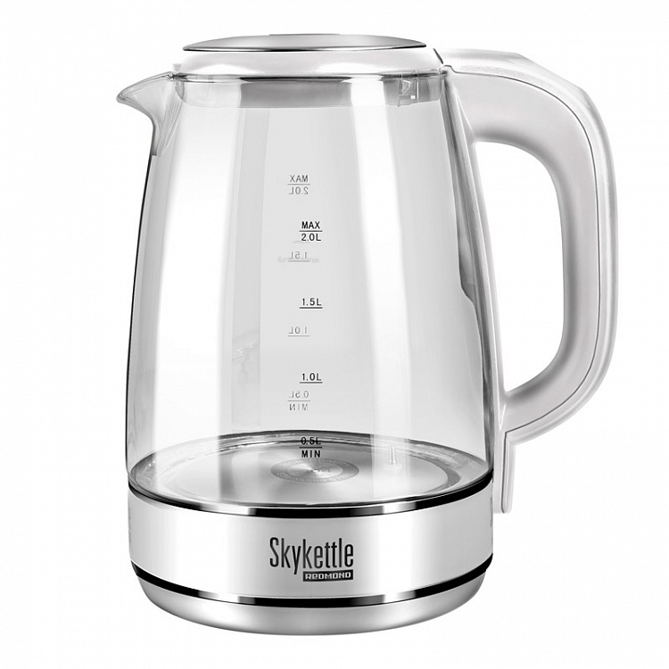 Чайник Redmond SKYKETTLE G201S 2200 Вт белый 1.7 л стекло чайник redmond rk g154 2200 вт чёрный 1 7 л стекло