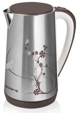 Чайник Polaris PWK 1726CA серебристый 2400 Вт, 1.7 л, нержавеющая сталь
