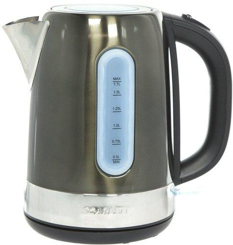 Чайник Scarlett SC-EK21S39 коричневый 2200 Вт, 1.7 л, нержавеющая сталь радиатор scarlett sc 21 2009 sb