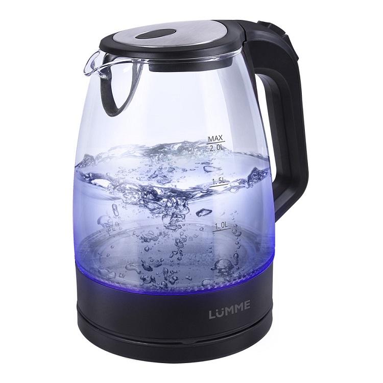 Чайник LUMME LU-138 черный жемчуг 2200 Вт, 2 л, стекло
