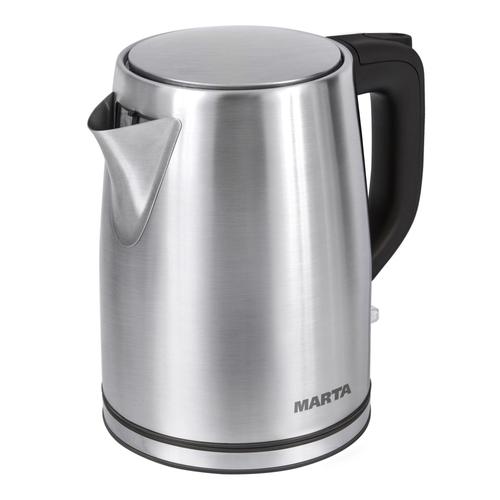 Чайник Marta MT-1092 черный жемчуг 2200 Вт, 2 л, металл мультиварка marta mt 4314 темный агат