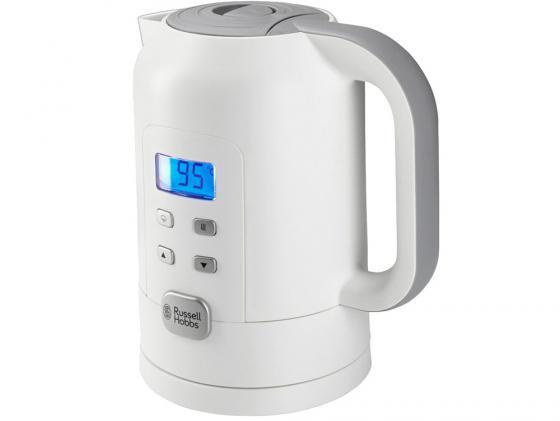 Чайник Russell Hobbs 21150-70 2200 Вт 1.7 л пластик белый серый чайник russell hobbs 18944 70 2200 вт 1 7 л нержавеющая сталь серый