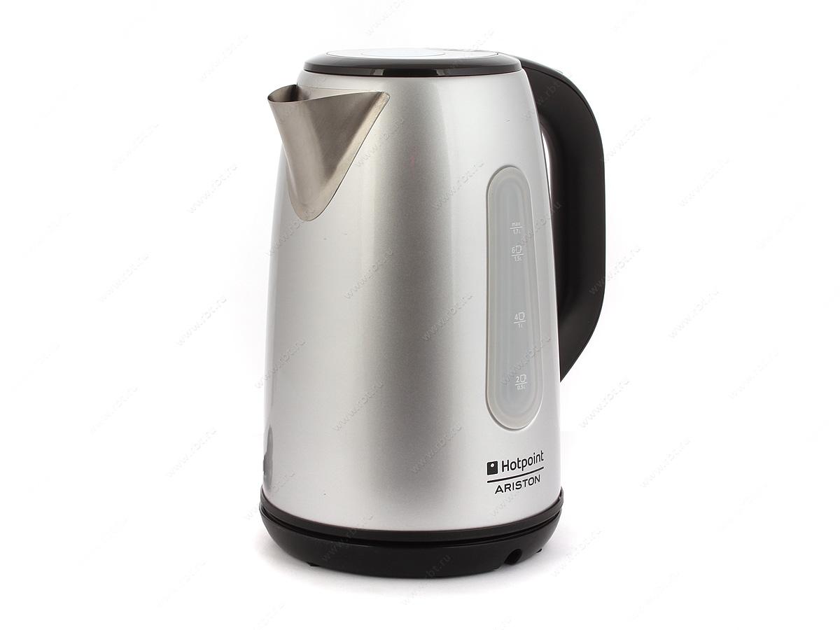 Hotpoint-Ariston WK 22M DSL0 Чайник серебро чайник hotpoint ariston wk 22m dsl0