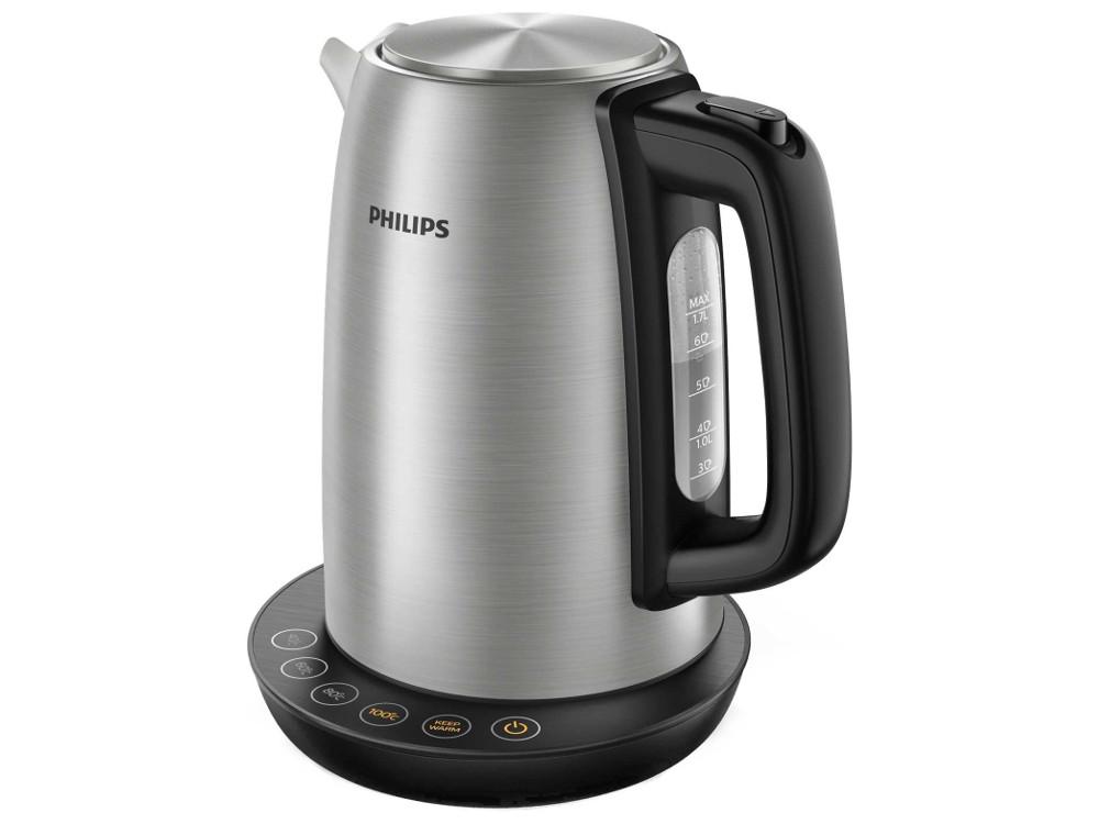 все цены на Чайник электрический Philips HD9359/90 2200 Вт, 1,7 л, подсветка. корпус: сталь онлайн