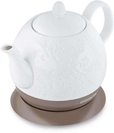 Чайник электрический Polaris PWK 1259CC 1.2л. 1200Вт белый (корпус: керамика)