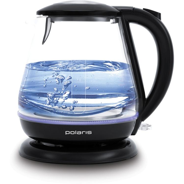 Чайник электрический Polaris PWK 1859CGL 1.8л. 2200Вт черный (корпус: стекло) электрический самокат polaris pes 0808
